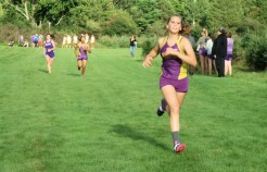 Mariah Rakowski heading for the finish line