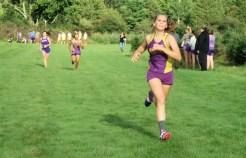 Mariah Rakowski heading for the finish line