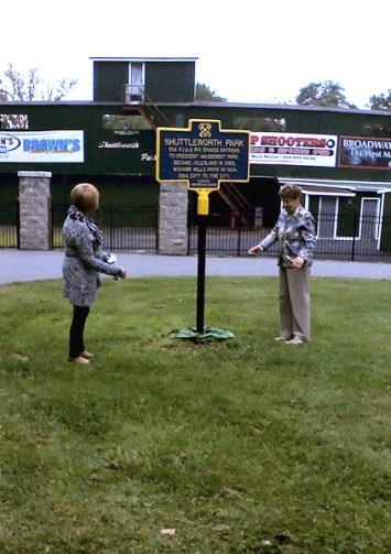 Betty Clough (left), Jackie Murphy (right). Photo by Jay Towne.
