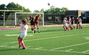 Dianna Constantine with a corner kick