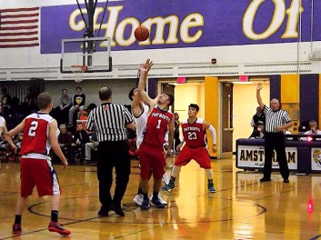 The opening tip with BP's Jake Coveney (#1)