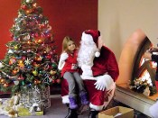 Selena Belville tells Santa her Christmas wish