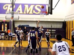 Trevor Sweet #35 goes up for a rebound