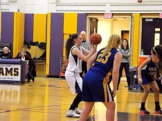 Nina Fedullo attempting a free throw
