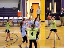 Amsterdam Recreation teams play at halftime