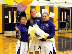 AHS seniors Lequela Steen, Caitlin Gannon, Tessa Filiberto
