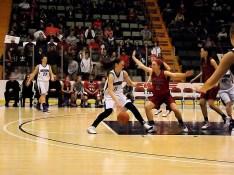 Nina Fedullo drives to the basket
