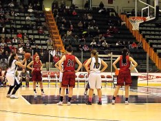 Fedullo shooting a free throw in the first half