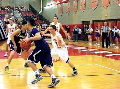 Kory Bergh headed to the basket