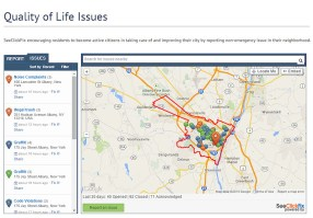 Albany's SeeClickFix widget which is embedded on the city's official site.