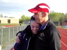 McKenna and her dad , Coach Stu Palczak