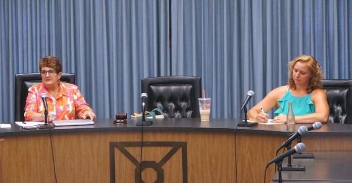 Fourth Ward Alderwoman Diane Hatzenbuhler (l). District 7 County Legislator Barbara Wheeler (r). Photo by Tim Becker.