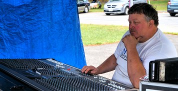 Mark Darrow, organizer and sound engineer