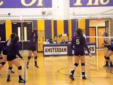 Abigail Saines hitting the ball