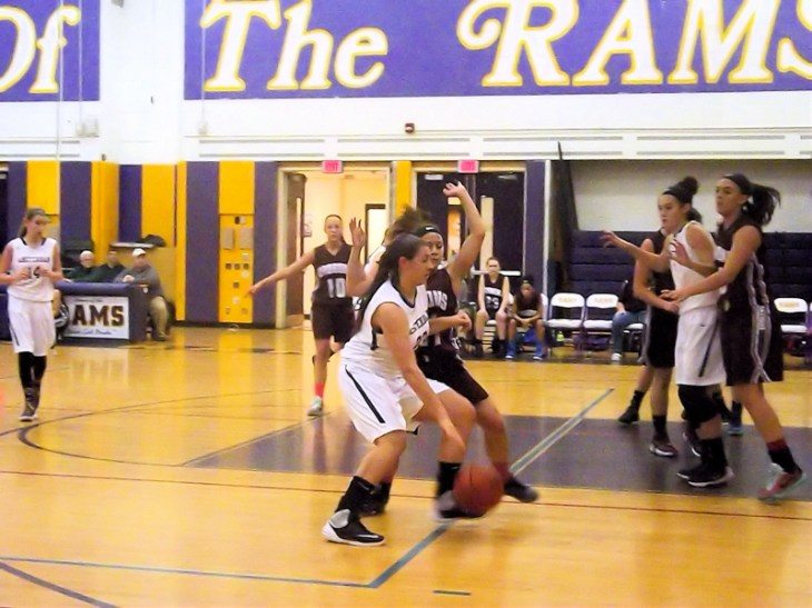 Giuliana Pritchard heads to the basket