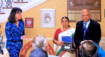 Dr. Govind Rao and his wife Jyothi