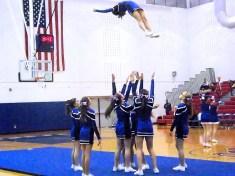 BPHS cheerleaders perform at halftime