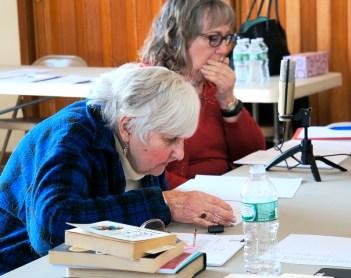 Cathy Ozug, left
