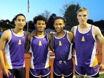 AHS boys 4x400 meter relay team