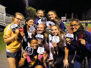 AHS girls with their patches and ribbons