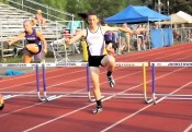 Stanavich in the 400m hurdles