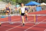 Stanavich in the 400m hurdles