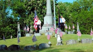 Civil War monument circle