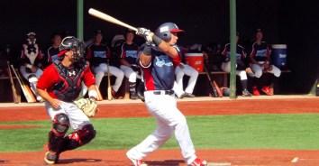 Zak Colby at bat