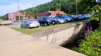 Dove Creek retaining wall at St. Mary's Hospital