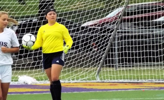 AHS goalkeeper Victoria Barone-Lopez