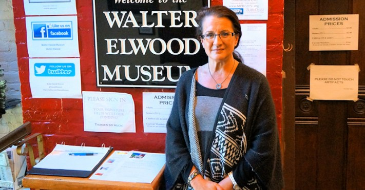 Ann Peconie, director of the Walter Elwood Museum