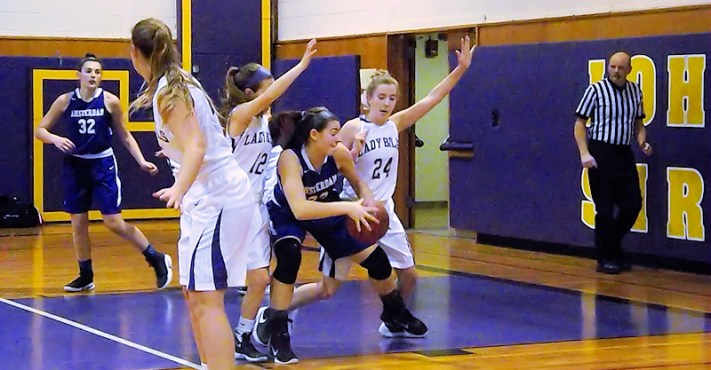 Giuliana Pritchard attacks the basket