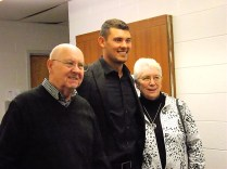 Luke Maile meeting with fans