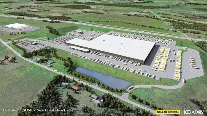 Artist rendering of the planned Dollar General distribution center. Photo provided by Dollar General, used with permission.