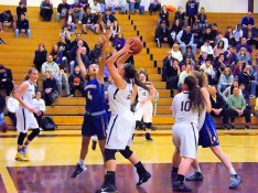 Giuliana Pritchard goes in for two
