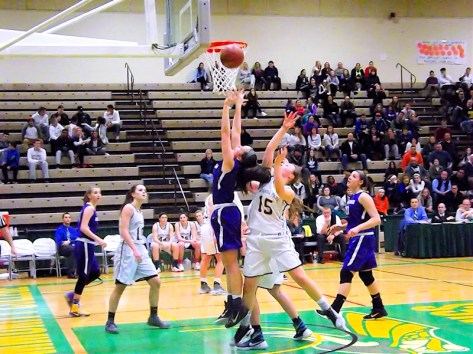 Grace Catena goes up for two