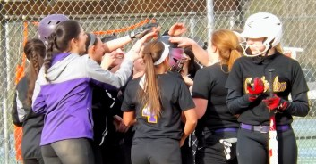 AHS celebrates Martina Hughes' home run