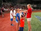 Lucia Liverio and baseball buddies