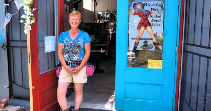 Jolene Owen, owner of the Rockn J Flea Market