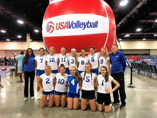 Cassy Bown, #11 and her USA Volleyball Iroquois Girls Youth team. Photo provided.