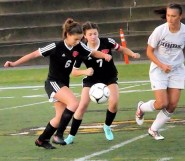 Gabby Stanavich (right) defends