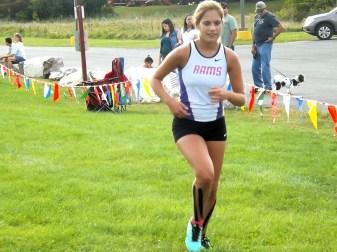 Sofia Dayian finishes the race