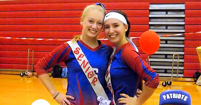 Lady Patriots volleyball celebrate senior night after win against Johnstown
