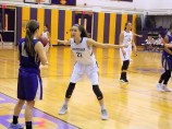 Antonia May defending an inbound pass