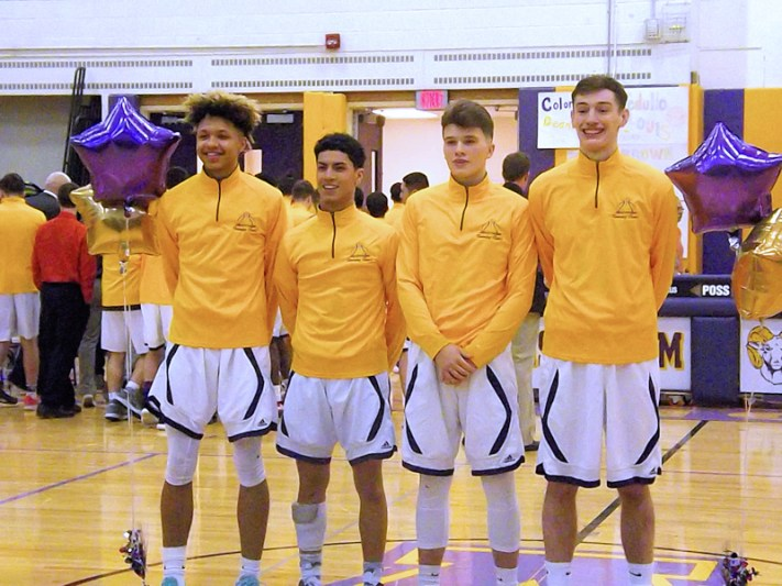 AHS senior basketball players