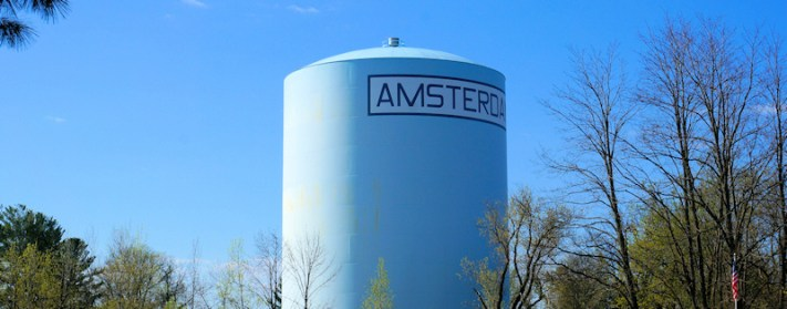 City of Amsterdam water tank near Locust Ave. Photo by Tim Becker.