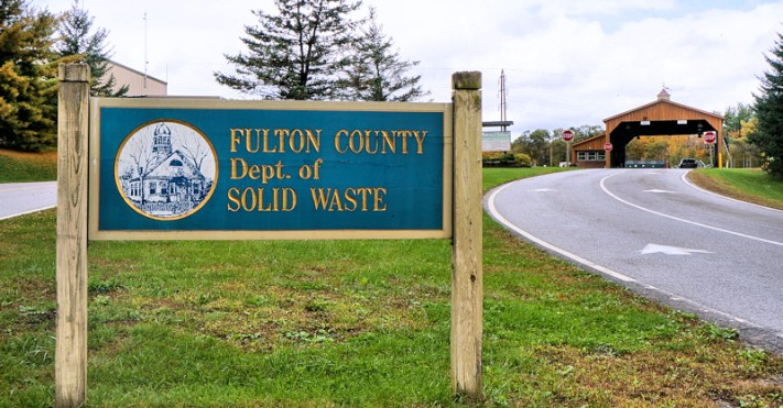 Entrance to the Fulton County Landfill in Johnstown, NY