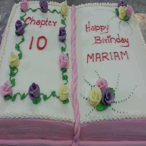 Diary Cake For Birthday