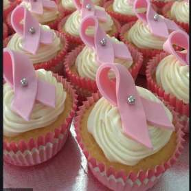 Breast Cancer Awareness Logo Cake in Dubai