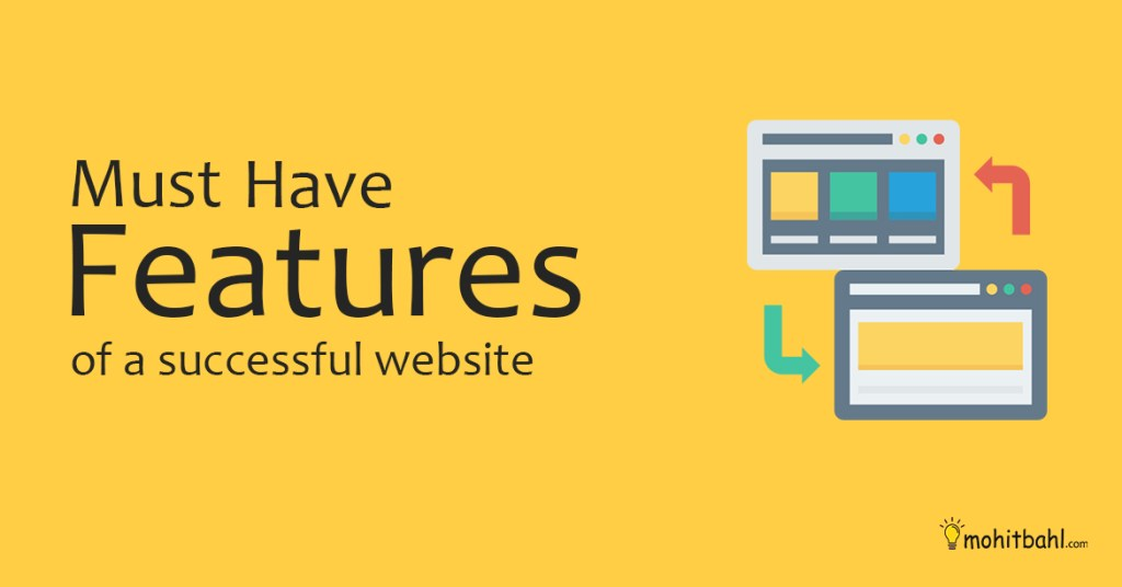 Must have features for a website